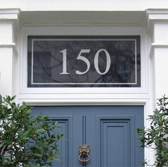 Window film, etched glass look, for house numbers on a glass front door. Etched Glass Door, Glass Front Door, Transom Windows, Windows And Doors, Porch Doors, Barn Doors, Window Above Door, Front Door Numbers, Address Numbers