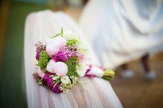 #purple /#white #flowers #wedding #bouquet