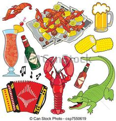 Free Cajun Music Clips | Vector - Cajun Icons and clipart - stock illustration, royalty free ...