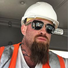 worlds most beautiful men Oakley Sunglasses, Mens Sunglasses, Rugged Men, Hard Hats, Man Smoking, Shaved Head, Body Poses, World's Most Beautiful, Facial Hair