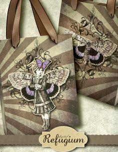 printable  Bag Moth Girl INSTANT DOWNLOAD by digitalRefugium