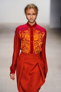 London Fall 2012 - Bora Aksu  - Why do I love this look so much???? It's nothing like anything I have....