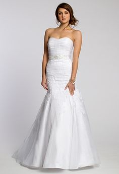 Organza Ruched Bust with Lace Applique