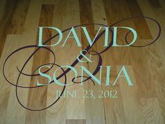 Etsy shop touchofbeautydesigns sells the most elegant custom decals for wedding reception dance floors