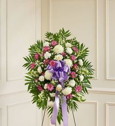 1800Flowers - Deepest Sympathies Lavender & White Standing Spray - Small - http://yourflowers.us/?p=1313