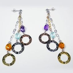Fashion Earrings rhodium plated 925sterling silver, with round printed EveryDayGioielli, colored stones twist, chain bi-colored white and yellow (Made in Italy) EveryDayGioielli http://www.amazon.co.uk/dp/B00FZ0SXYA/ref=cm_sw_r_pi_dp_Fd4.tb05RAG66