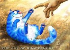 Картинки по запросу синие котики картинки