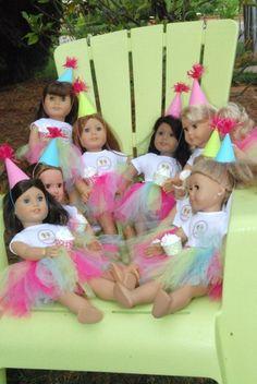 "Photo 8 of American Girl / Birthday ""American Girl @ Sweet Frog"" Catch My Party American Girl Birthday, American Girl Parties, American Girl Crafts, American Girl Clothes, American Girls, 6th Birthday Parties, 7th Birthday, Barbie Birthday, Birthday Ideas"