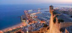 Alicante castle with sea shore view #trivo