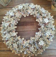 A beautiful paper flower wreath rolled paper flowers rolled paper a beautiful paper flower wreath rolled paper flowers rolled paper and paper flower wreaths mightylinksfo