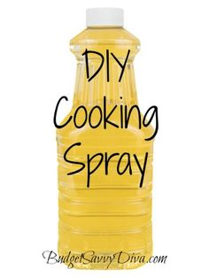 DIY Cooking Spray | Budget Savvy Diva