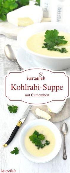 Rezept für eine tolle Suppe. Diese Kohlrabi-Suppe ist göttlich!