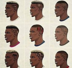 Black Boy Hairstyles, Mohawk Hairstyles, African Hairstyles, Paul Pogba Manchester United, Manchester United Team, Drawing Cartoon Faces, Cartoon Hair, Pogba Haircut, Black Hair Inspiration