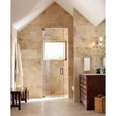 Shower Tile?  MS International Beige 12 in. x 24 in. Honed Travertine Floor and Wall Tile (8 sq. ft. / case)-THDBEIG1224HF - The Home Depot