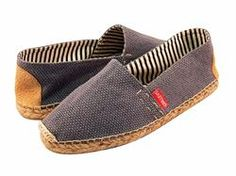 """New release 4/1012.  """"True Blue"""" traditional espadrille flats for men and women.  http://drilleys.com"""