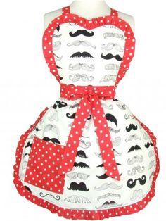 Mustache Lovers Apron by Hemet