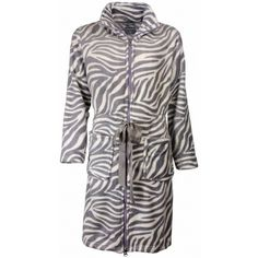 Zebra design, koudebestendige dames badjas.