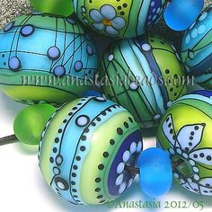For inspiration only. No viable link. ANASTASIA--lampwork bead...