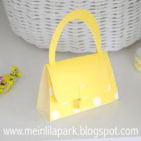 printable purse favor box