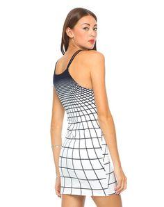 Motel Zeah Bodycon Dress in Tron Black White £35 http://www.motelrocks.com/products/Motel-Zeah-Bodycon-Dress-in-Tron-Black-White.html