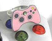 GIRL GAMER Pink Xbox 360 Video Games Controller Ring XBOX360