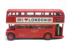 Kids Red Pull-Back Function London Double-Decker Bus Toy
