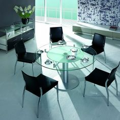 Best Dining Tables Images On Pinterest Dining Room Sets Dining - Smoked glass dining table and chairs