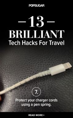 Never worry about your phone cord breaking on your next trip with this easy hack, plus 12 more that will change the way you travel!