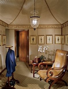 Southern Chateau: Fabulous Dressing Rooms and Closets - gentleman's dressing room by Mario Buatta