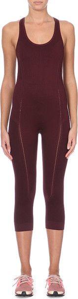 Adidas By Stella Mccartney Purple Yoga Seamless Onesie Light Maroon @Lyst #LaPETITEBlog