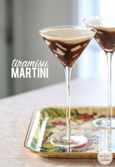 Tiramisu Martini by 1 oz Coconut Rum 1 oz Frangelico 1 oz Irish Cream 1 oz Amaretto 1 oz Kahlua oz Peach Schnapps oz Butterscotch Schnapps Maraschino cherry Chocolate syrup Ice Martinis, Cocktails, Party Drinks, Cocktail Drinks, Cocktail Shaker, Lemonade Cocktail, Martini Bar, Martini Recipes, Cocktail Recipes