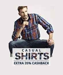 Paytm Men's Tshirts Sale Offer : Upto 60% OFF + Extra 35% Cashback Starts Rs.175 - Best Online Offer