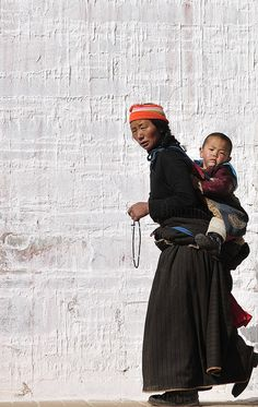 Mother and Child - Tibet