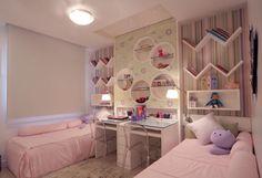 Um quarto, duas meninas.  #decorarepreciso #decoracao #mesdascriancas #kids #children