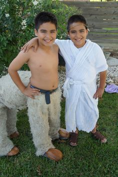 Hermes & the Centaur For Greek History week I made the boys these costumes