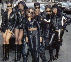 "The popular singing group ""Total"" with female rappers Lil' Kim, Da Brat & Foxxy Brown"