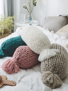 # Home Decor accessories Nordic style pure hand-woven pillows sofa pillows creatively home decoration from Sweet House Home Decor Bedding, Bedroom Decor, Candy Pillows, Cheap Home Decor Stores, Handmade Home Decor, Cushions On Sofa, Sofa Bed, Creative Home, Home Textile