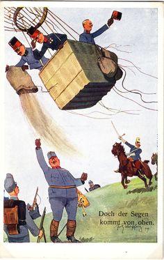 Austria, German Uniforms, Austro Hungarian, Kaiser, Chocolate Box, Caricature, Empire, Balloons, Old Things