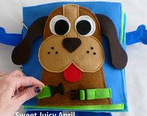 Buckle the Dog Collar Quiet Book Page