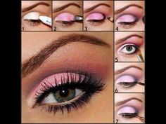 roze make-up oogschaduw