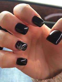 Cool 130+ Beautiful Black Acrylic Nails Design Ideas #beautynails
