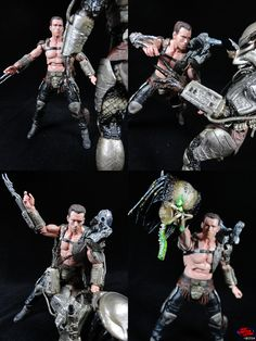 I glued all the armor down, and even attached a net launcher from a NECA Predator 2 figure. So now that Dutch is utilizing all the weapons and armor of his greatest enemy, he's ready to hunt down every last Predator that makes its way to Earth!
