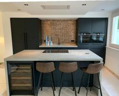 Kitchen Room Design, Kitchen Dinning, Modern Kitchen Design, Interior Design Kitchen, New Kitchen, Kitchen Decor, Contemporary Kitchen Interior, Minimalist Kitchen, Cuisines Design