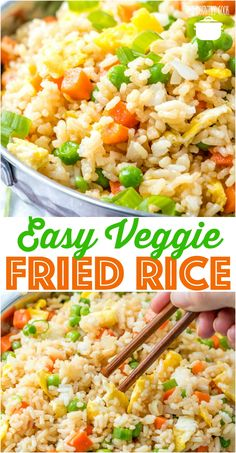 Easy Vegetable Fried Rice recipe from The Country Cook #easy #recipes #rice #friedrice #sidedish #vegetable #vegetarian