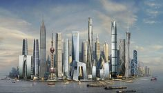An All-Asian Shanghai Skyline