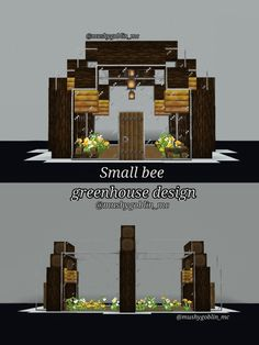 Minecraft Greenhouse, Minecraft House Plans, Minecraft House Designs, Minecraft Tips, Minecraft Blueprints, Minecraft Projects, Minecraft Crafts, Minecraft Buildings, Small Bees