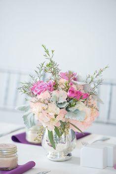 Floral wedding centerpiece - Corner House Photography