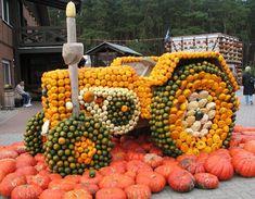 Pumpkin car show Fruit Decorations, Halloween Decorations, Fall Pumpkins, Halloween Pumpkins, Pumpkin Farm, Autumn Scenes, Halloween Celebration, Halloween Pictures, Holidays Halloween
