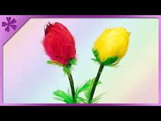 DIY How to make tulips out of feathers and styrofoam eggs (ENG Subtitles) - Speed up #462 - YouTube