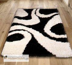 Vista 4263 Ivory Black Rug - Buy Online - Free UK Delivery
